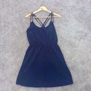 Navy Blue Forever 21 cinched waist dress